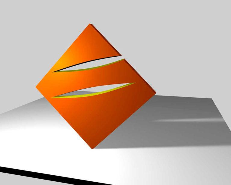 3D Animation für eine geplante Stahlskulptur