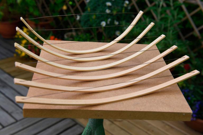 Holzmodell für ein Stahlojekt